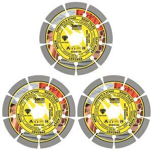 SabreCut 3x Diamond Grinder Blade Cutting Disc for Bosch Dewalt Makita Grinders