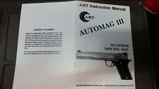 Amt / Iai Automag Iii (30 Carbine & 9mm Magnum) Owners Manual