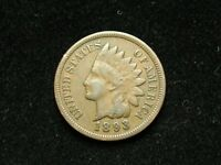 BLACK FRIDAY SALE!!  VF 1893 INDIAN HEAD CENT PENNY w/PARTIAL LIBERTY #12t