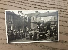 More details for fire at embsay fish shop,skipton,fire engine ,firemen ,superb card.