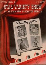 American Thread Star Variety Show Book 21 Knit Crochet Patterns Hats Bags 1942