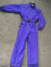 Vintage Edelweiss Women's Ski Suit One Piece Purple Belted Snowboard Size 10