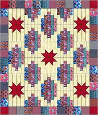 Easy Quilt Kit/Patriotic Stars and Strips/Pre-cut Fabric Ready To Sew!!!****