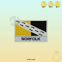 NORFOLK County Flag With Name Embroidered Iron On Sew On Patch Badge