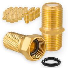 20 x HQ F Stecker Dichtring  10 x F Verbinder vergoldet Kupplung SAT Kabel