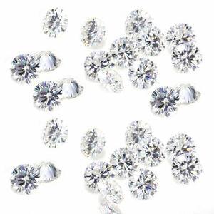 4.70 TCW 5.40-5.60MM 8PCs H-I-J White MOISSANITE Sub to DIAMOND RING EARRINGS