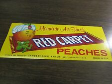 MOUNTAIN AIR FRESH - RED CARPET PEACHES - SANDERS FRUIT RANCH  -  VINTAGE LABEL