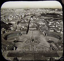 Glass Magic Lantern Slide ROME FROM ST PETERS C1890 PHOTO ITALY ROMA