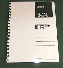 Icom IC-775DSP Service Manual - Premium Card Stock Covers & 32 LB Paper!