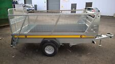 Bateson B84 Unbraked 8x4 Car Trailer with Ramp Tailgate & Mesh Sides - 750kg