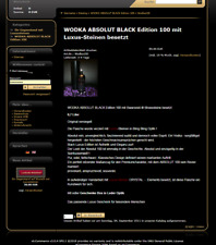 GESCHÄFTSIDEE Luxus-Wodka.de mit Shop Strasssteine Absolut Wodka