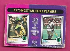 RARE 1975 OPC # 211 PETE ROSE + REGGIE JACKSON MVP CARD (INV# J0249)