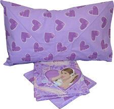 Completo lenzuolo lenzuola VIoletta viola bimba cameretta puro cotone