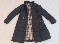 Barbour jacket coat down puffer Quilted bomber Womens blue navy Sz 10us 14uk