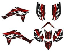 TRX 450R graphics Honda 450 R custom wrap kit #3500 Red