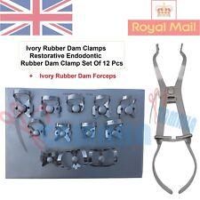 Ivory Rubber Dam Clamps Restorative Endodontic Rubber Dam Clamp Set Of 12 CE
