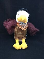 "Harley Davidson Eagle Black Hat Bandana Plush Toy 12"" Brown White Advertising"