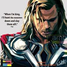 THOR Avengers marvel POP ART canvas Quotes wall decals photo framed poster ❤️