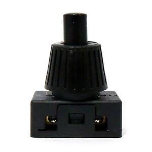 Mini Miniature 2A 2 Amp 240V Push Button Press Switch Lamp Light black 703B