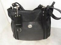 Assez grand sac Mandarina Duck cabas cuir véritable noir A4