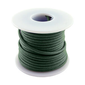 20 Gauge Stranded Cloth Wire 50 Feet, Green