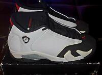 Nike Air Jordan 14 Retro Black Toe 654963-102 GS SZ 6Y With Box!