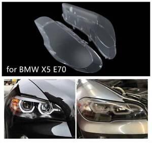 Couvercle de lentille de phare lentille de phare de voiture pour BMW Série 5 E70