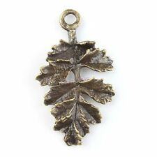 20x 143185 Free Ship Antique Bronze Leaves Charms Alloy Pendants Findings