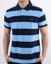 Gant Polo Camisa en Azul Marino & - pique de algodón manga corta a rayas Rugger Superior,