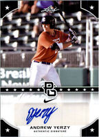 ANDREW YERZY 2015 LEAF PERFECT GAME CERTIFIED AUTOGRAPHED ROOKIE CARD! D-BACKS!