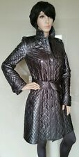 Bnwt BURBERRY NIGHTSWORTH TRENCH.mac.coat.leather.metallic.quilted.uk 8.£1499