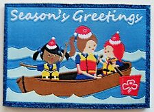 2017 CHRISTMAS GUIDE BADGE, Rowing Guides, Girl Guide Badge