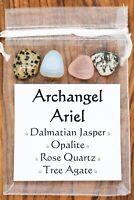 Archangel Ariel Crystal Set Dalmatian Jasper Opalite Rose Quartz Tree Agate