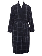 MARKS & SPENCERS MENS  LIGHTWEIGHT BLACK CHECK DRESSING GOWN SIZE LARGE NEW