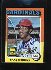 1975 TOPPS MINI #174 BAKE MCBRIDE ON CARD AUTOGRAPH SIGNATURE AU8086
