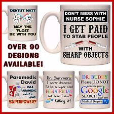 Personalised Doctor Nurse Medical Mug Dentist Optometrist Paramedic Name Gift