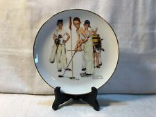 Norman Rockwell Missed Sporting Boys Series Limited Edition Golf Porcelain Plate