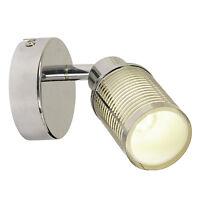 Wandspot LED G9 Wandstrahler Chrom mit Dekor Wandlampe Wandleuchte Bad Küche