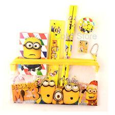 New Cute Despicable Me Minion Pencil Case Stationery Zipper Set Kids Boy Girls