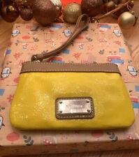 New Nine West Zipper Wristlet Clutch Bag Purse MSRP $30 ID Pocket Yellow 🍋