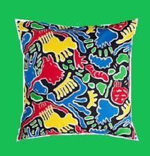 "IKEA Avsiktlig Pillow Cover Green Red Blue Yellow""Ameoba""on Black 20""Cushion NEW"