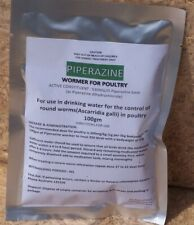 Piperazine 100g satchel wormer chickens, ducks,birds,  poultry