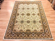 TOP QUALITY CREAM Traditional Persian Oriental Design Wool Rug 160x230cm -50%OFF