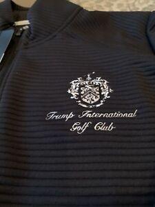 adidas Trump International Golf Club Full Zip Womens Athletic Navy Jacket Size M