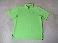 Footjoy Golf Polo Shirt Adult Large Green Black Golfer Dri Fit Casual Mens
