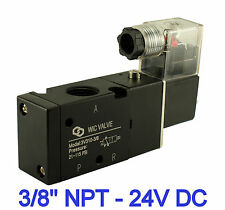 3 Way Electric Air Directional Control Electric Solenoid Valve 24V DC 3/8 Inch