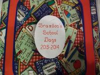 SCHOOL DAYS / MEMORY Personalized Photo Album / Scrapbook - HANDMADE  - No Lace