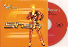 SHAH - all or nothing CD SINGLE 2TR eurodance 1998 RARE