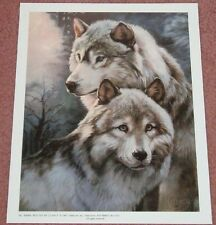 Wildlife Art Print - Wolves: 9x11 In.