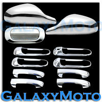 Chrome Non-Fold Mirror+4 Door Handle no PSG KH+Tailgate Cover for 05-11 Dakota